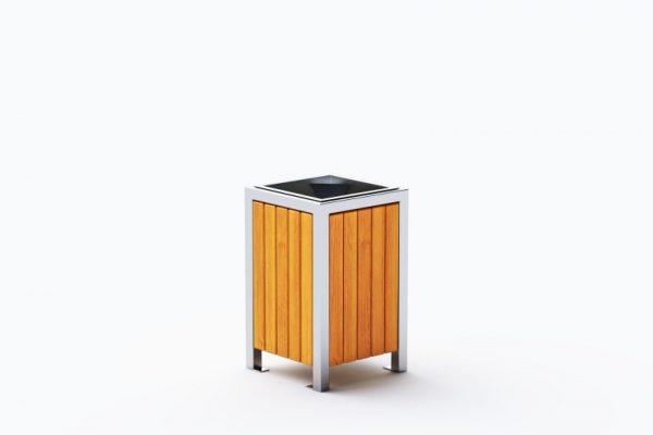 kosz-miejski-modern-kwadratowy 0213 ze stali nierdzewnej