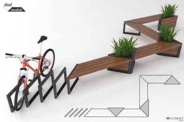 ławki-parkowe-stojaki-na-rowery-mała-architektura-Modern-JUMAT