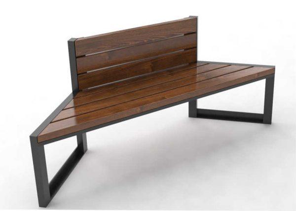 ławki parkowe Modern Dual 0187