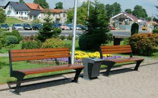 ławki parkowe kosze uliczne Sekwana