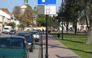 słupy do znaków drogowych