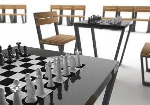 stół do gry w szachy novara