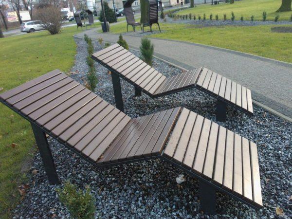 leżaki parkowe miejskie