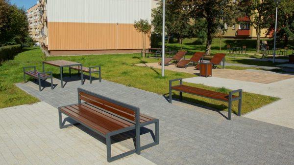 ławki dwustronne Modern stoły parkowe Modern – Kopia