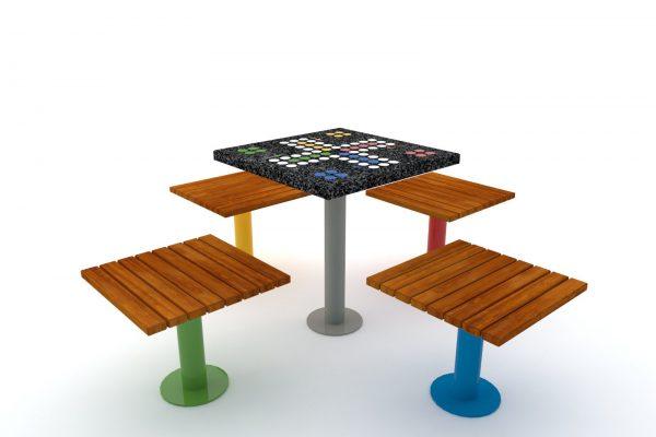 stół do gry w chińczyka Practic zestaw kolor